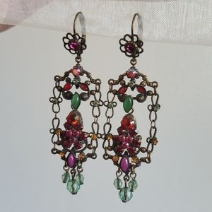 vintage designer sorrelli swarovski cystal earring